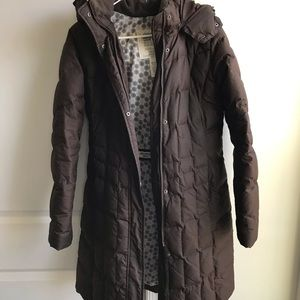 Eddie Bauer Women's Brown Down Winter Coat Size S